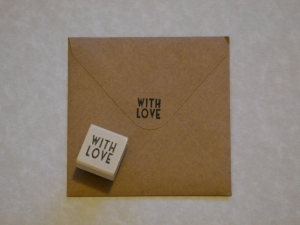 Personalised envelopes for the save the dates