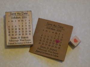Gorgeous personalised Save the Date stamp