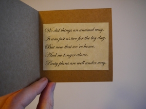 The poem I created for our save the dates